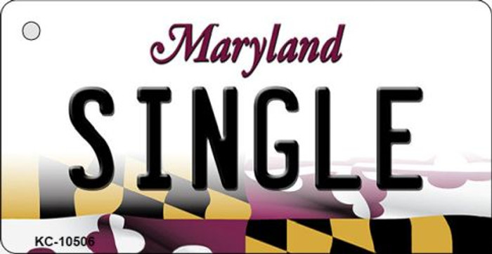 Single Maryland State License Plate Wholesale Key Chain KC-10506