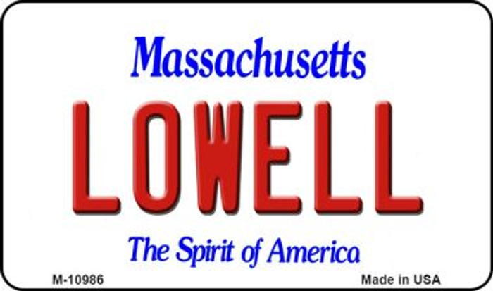 Lowell Massachusetts State License Plate Wholesale Magnet M-10986