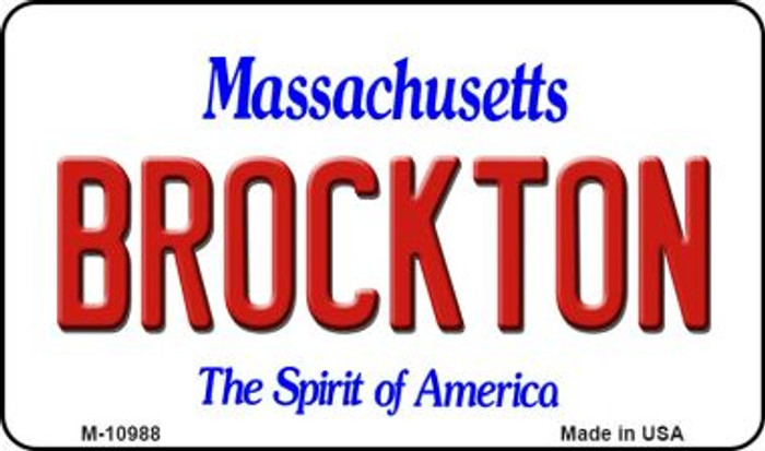 Brockton Massachusetts State License Plate Wholesale Magnet M-10988