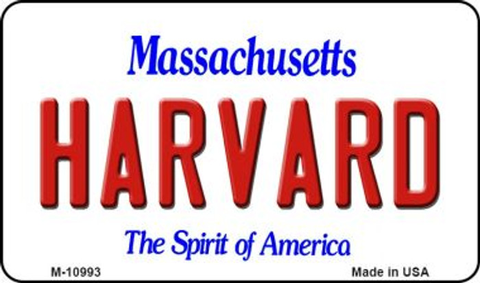 Harvard Massachusetts State License Plate Wholesale Magnet M-10993