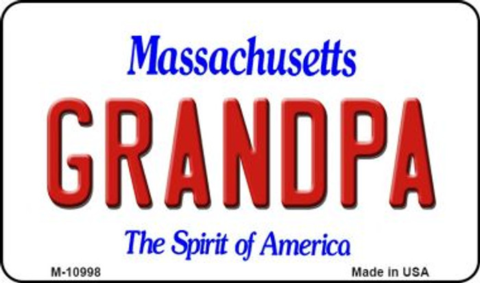 Grandpa Massachusetts State License Plate Wholesale Magnet M-10998