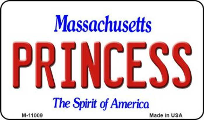 Princess Massachusetts State License Plate Wholesale Magnet M-11009