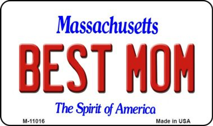 Best Mom Massachusetts State License Plate Wholesale Magnet M-11016