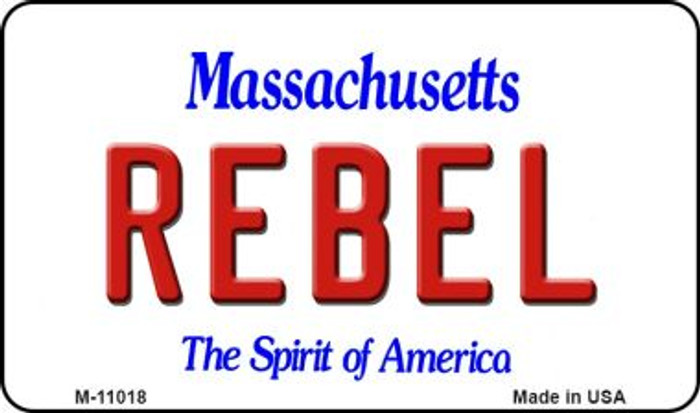 Rebel Massachusetts State License Plate Wholesale Magnet M-11018