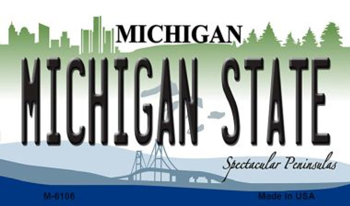 Michigan State University License Plate Novelty Wholesale Magnet M-6106