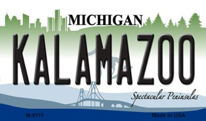 Kalamazoo Michigan State License Plate Novelty Wholesale Magnet M-6111