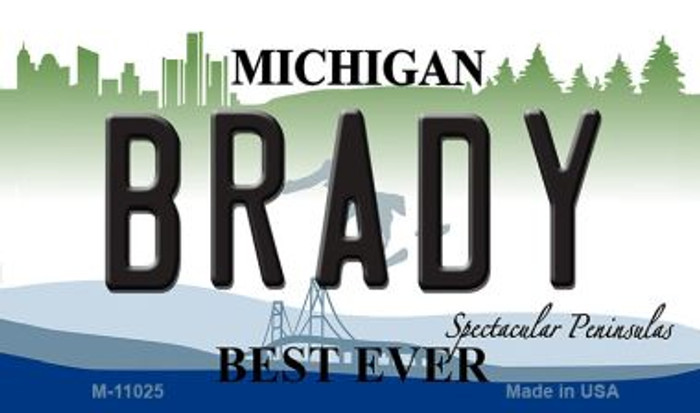 Brady Michigan State License Plate Novelty Wholesale Magnet M-11025