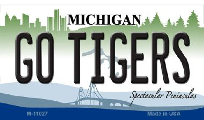 Go Tigers Michigan State License Plate Novelty Wholesale Magnet M-11027