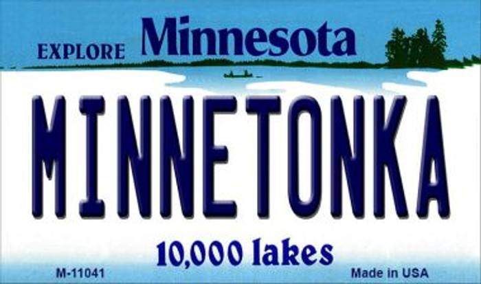 Minnetonka Minnesota State License Plate Novelty Wholesale Magnet M-11041