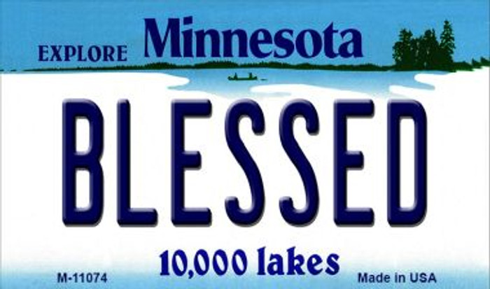 Blessed Minnesota State License Plate Novelty Wholesale Magnet M-11074