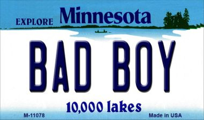 Bad Boy Minnesota State License Plate Novelty Wholesale Magnet M-11078