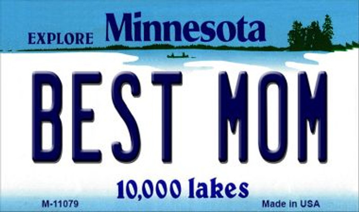 Best Mom Minnesota State License Plate Novelty Wholesale Magnet M-11079