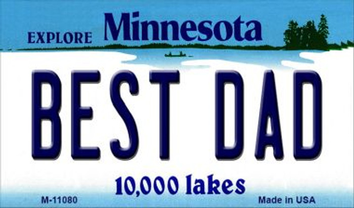 Best Dad Minnesota State License Plate Novelty Wholesale Magnet M-11080