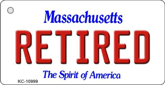 Retired Massachusetts State License Plate Wholesale Key Chain KC-10999