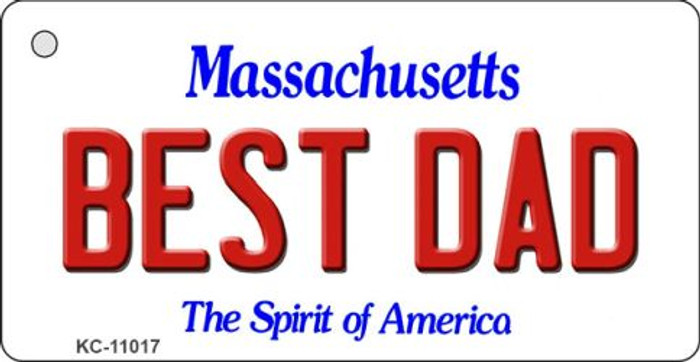Best Dad Massachusetts State License Plate Wholesale Key Chain KC-11017