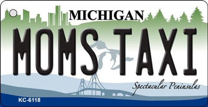 Moms Taxi Michigan State License Plate Novelty Wholesale Key Chain KC-6118