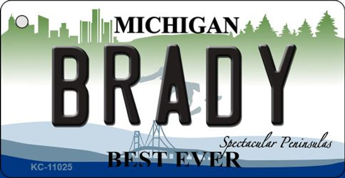 Brady Michigan State License Plate Novelty Wholesale Key Chain KC-11025