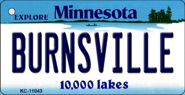 Burnsville Minnesota State License Plate Novelty Wholesale Key Chain KC-11043