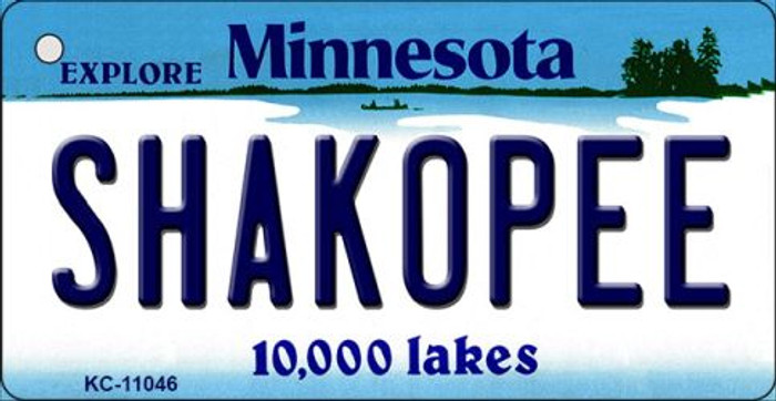 Shakopee Minnesota State License Plate Novelty Wholesale Key Chain KC-11046