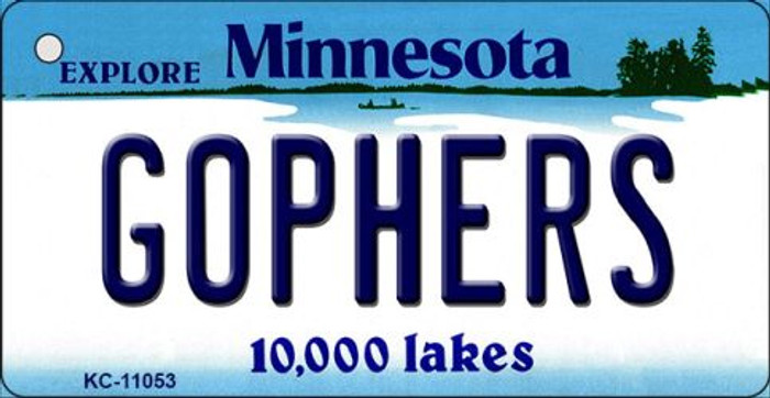 Gophers Minnesota State License Plate Novelty Wholesale Key Chain KC-11053