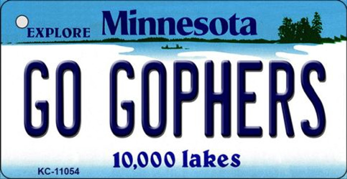 Go Gophers Minnesota State License Plate Novelty Wholesale Key Chain KC-11054