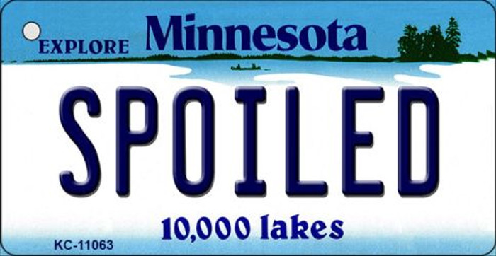 Spoiled Minnesota State License Plate Novelty Wholesale Key Chain KC-11063