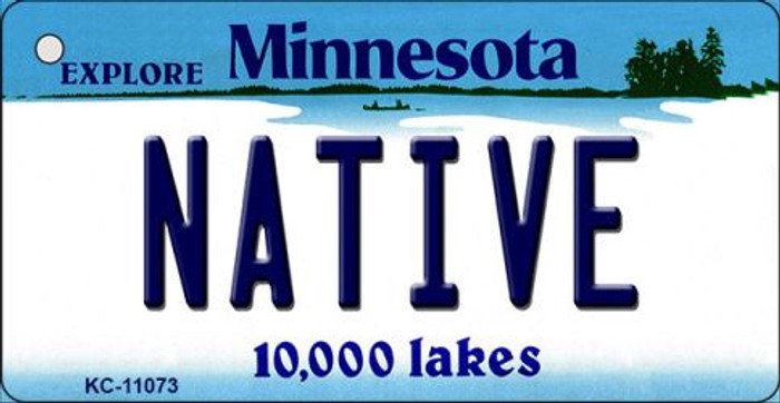 Native Minnesota State License Plate Novelty Wholesale Key Chain KC-11073