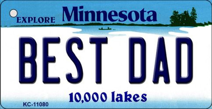 Best Dad Minnesota State License Plate Novelty Wholesale Key Chain KC-11080