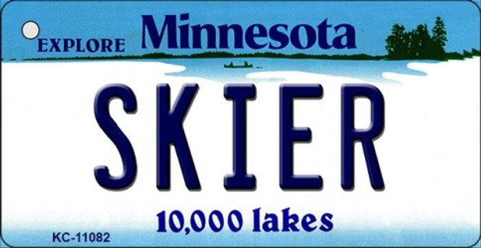 Skier Minnesota State License Plate Novelty Wholesale Key Chain KC-11082