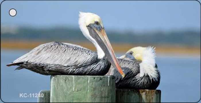 Pelican - Two On Pier Novelty Wholesale Key Chain