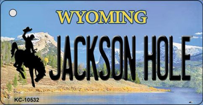 Jackson Hole Wyoming State License Plate Wholesale Key Chain