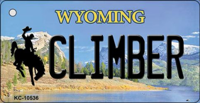 Climber Wyoming State License Plate Wholesale Key Chain
