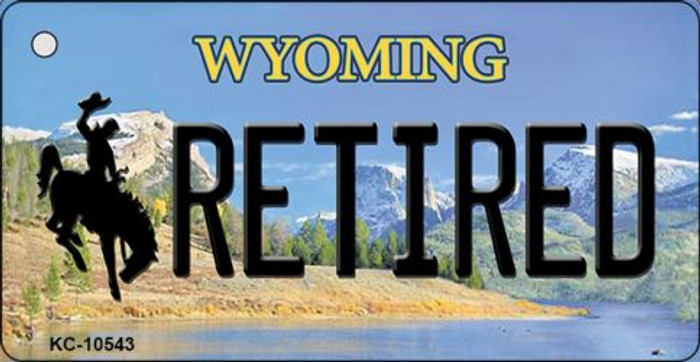 Retired Wyoming State License Plate Wholesale Key Chain
