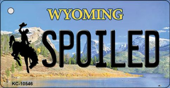 Spoiled Wyoming State License Plate Wholesale Key Chain