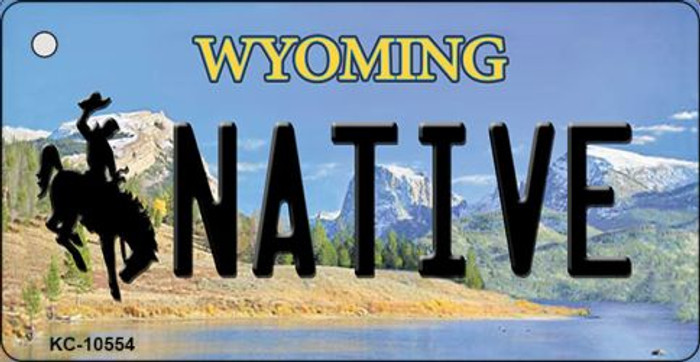 Native Wyoming State License Plate Wholesale Key Chain