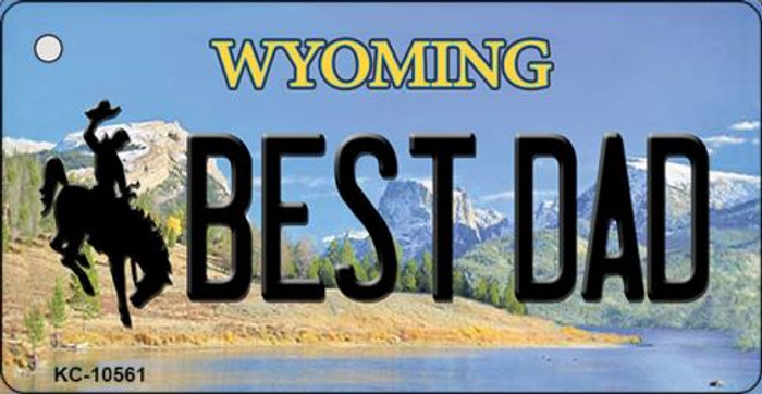 Best Dad Wyoming State License Plate Wholesale Key Chain