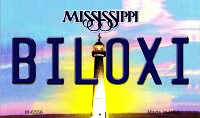 Biloxi Mississippi State License Plate Wholesale Magnet M-6556