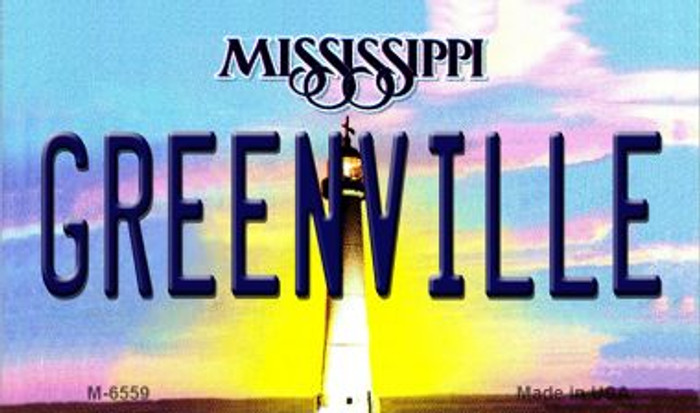 Greenville Mississippi State License Plate Wholesale Magnet M-6559