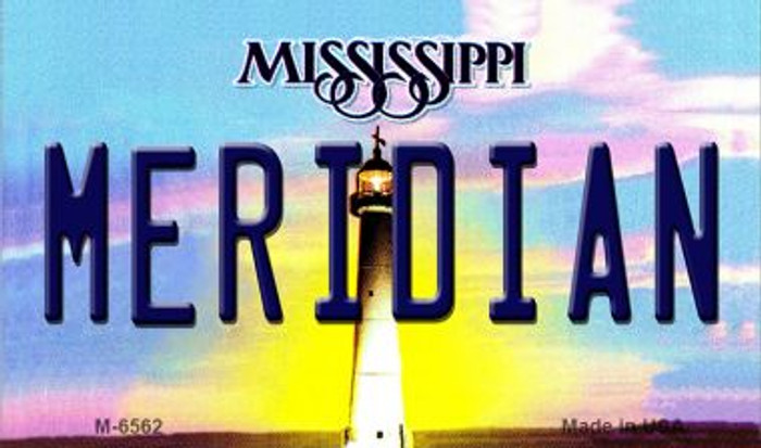 Meridan Mississippi State License Plate Wholesale Magnet M-6562