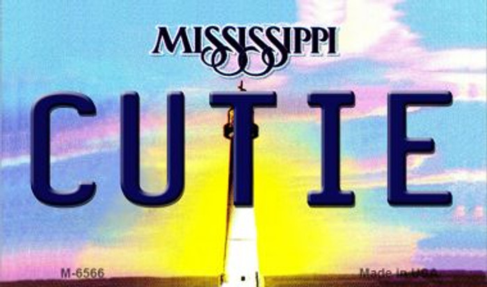 Cutie Mississippi State License Plate Wholesale Magnet M-6566