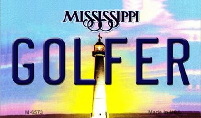 Golfer Mississippi State License Plate Wholesale Magnet M-6573