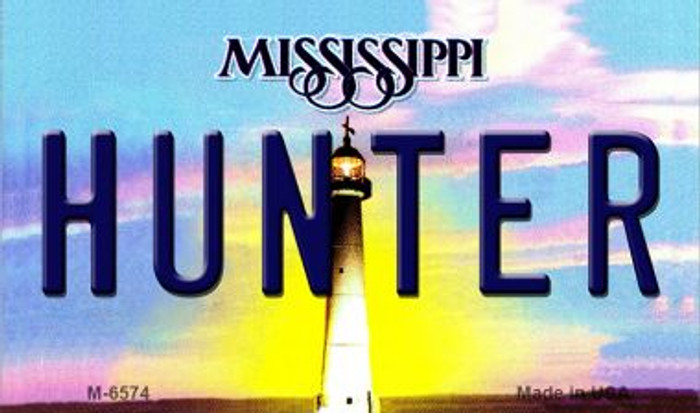 Hunter Mississippi State License Plate Wholesale Magnet M-6574