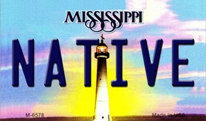 Native Mississippi State License Plate Wholesale Magnet M-6578