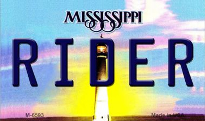 Rider Mississippi State License Plate Wholesale Magnet M-6593