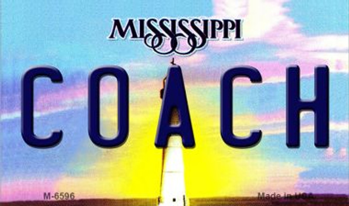 Coach Mississippi State License Plate Wholesale Magnet M-6596