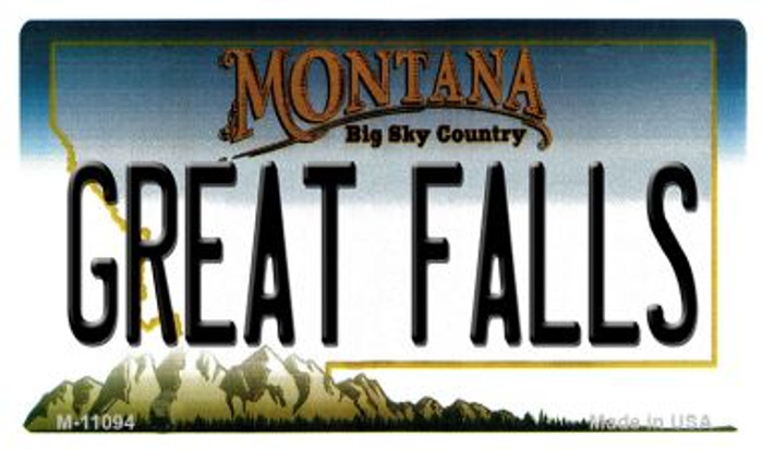 Great Falls Montana State License Plate Novelty Wholesale Magnet M-11094