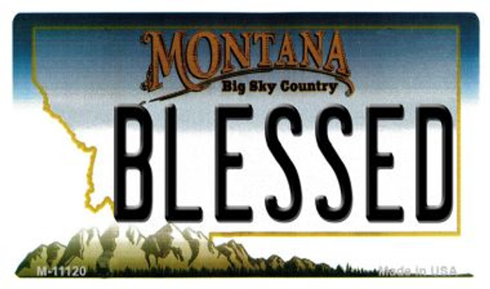 Blessed Montana State License Plate Novelty Wholesale Magnet M-11120