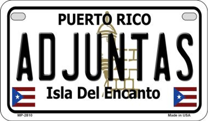 Adjuntas Puerto Rico State Wholesale Motorcycle License Plate MP-2810