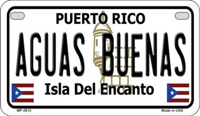 Aguas Buenas Puerto Rico State Wholesale Motorcycle License Plate MP-2813