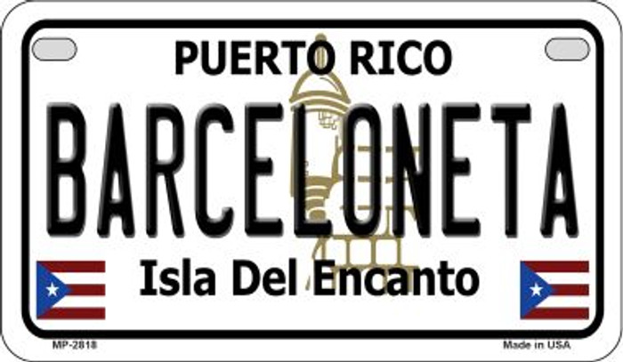 Barceloneta Puerto Rico State Wholesale Motorcycle License Plate MP-2818